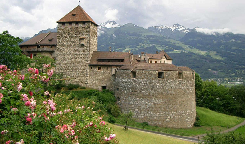 лихтенштейн, достопримечательности, замок, лихтенштейна, вадуц,