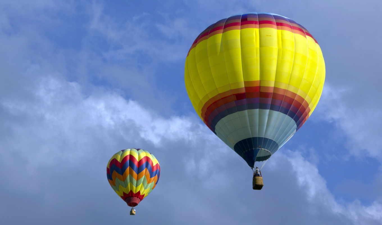 спорт, hot, air, парашютный, balloon, дельтаплане, ultrahd, небо,