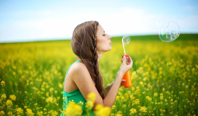 summer, девушка, природа