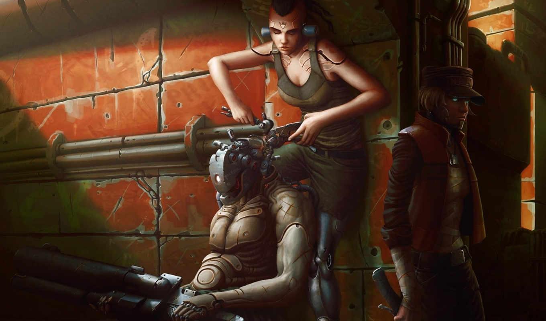 fantasy, robot, киборг, роботы, android, техника, механизм, киборги, взгляд, механизмы,