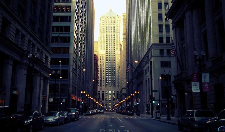 chicago, usa, иллинойс, здания, улица, город, сша, streets,