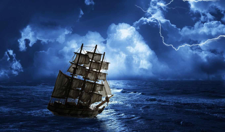 корабль, парусник, sail