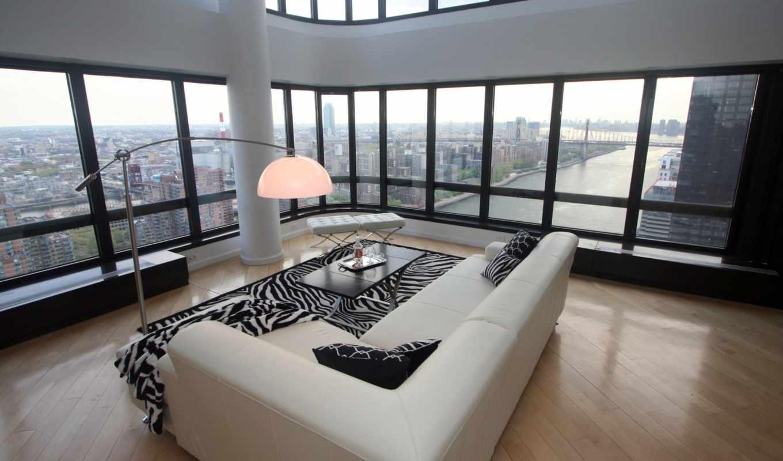 new, york, нью, пентхаус, мегаполис, интерьер, стиль, дизайн, городская, квартира,