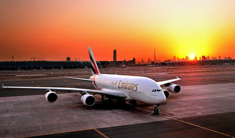 airport, dubai, airline, emirates, пассажирский, самолёт, airbus,