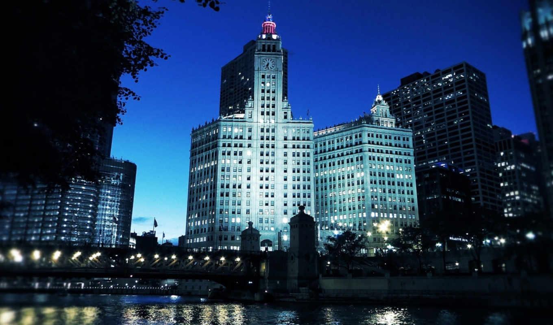 города, chicago, площадь, usa, иллинойс,