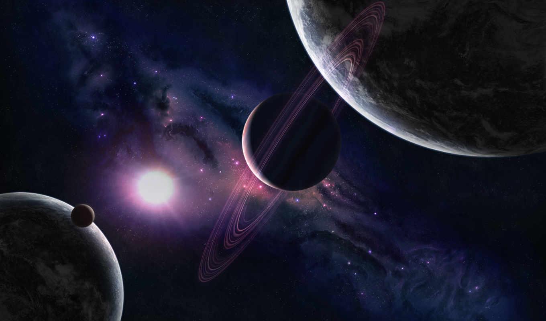 космос, планеты, звезды, свечение, свет, картинка, art, you, кольца, открытый, planet, reason, digital,