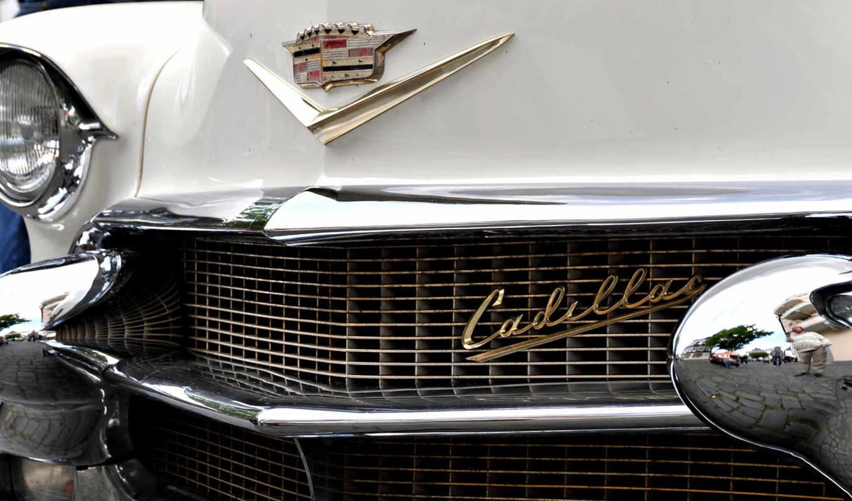 cadillac, car, авто, логотип, белый, фары, front, кадилак,