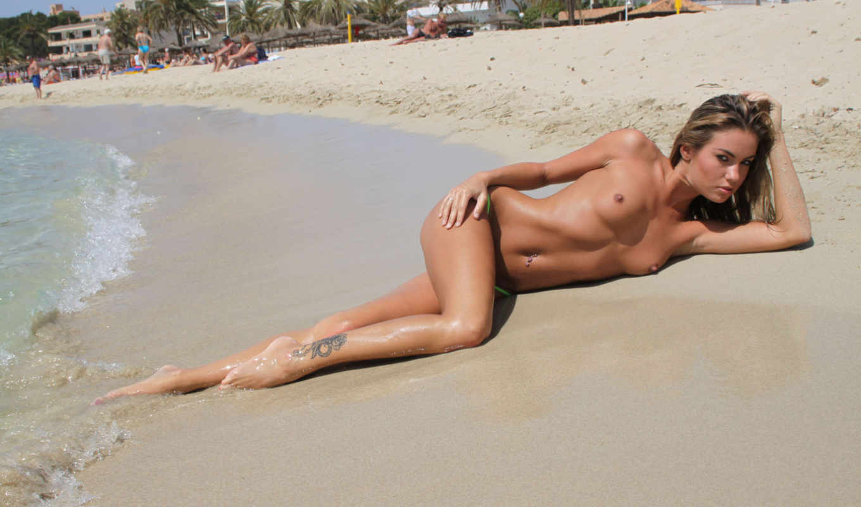 пляж, topless, veronika, fasterova, brunette, girls, ftop, обнаженная, beaches, эротика,