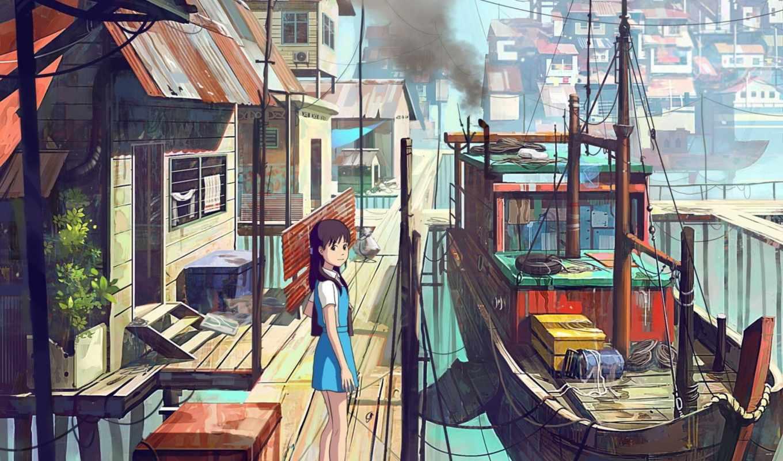 feigiap, chong, anime, стиле, иллюстрации, выполнены, серембан, города, художником, талантливым, eti,
