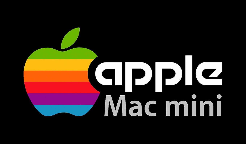 apple, mac mini, лого, чёрный