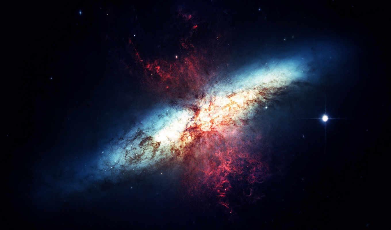 blue, pink, explosion, nebula,