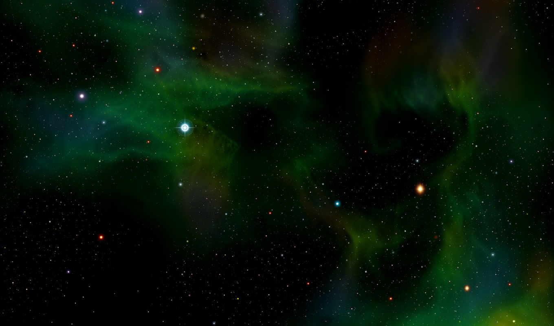 зелёный, телескоп, хаббл, снимок,