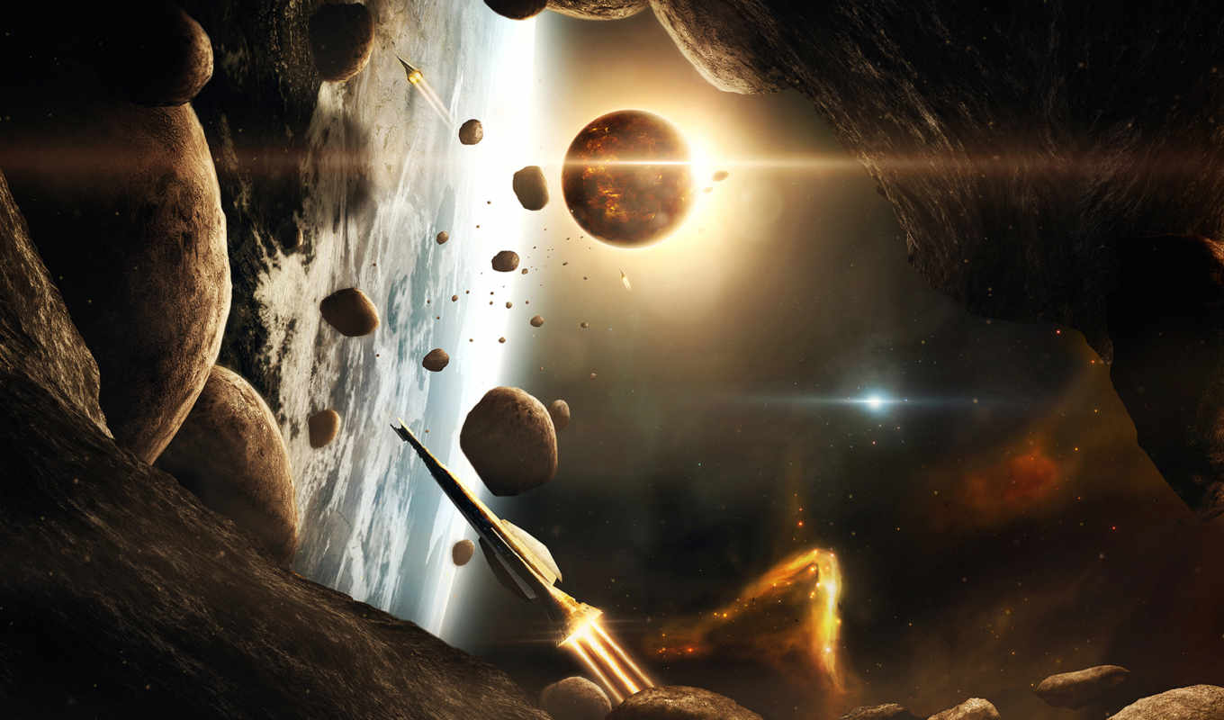 planets, spaceships, space, outer, asteroids, vehicles, же, планета, корабли, кнопкой,