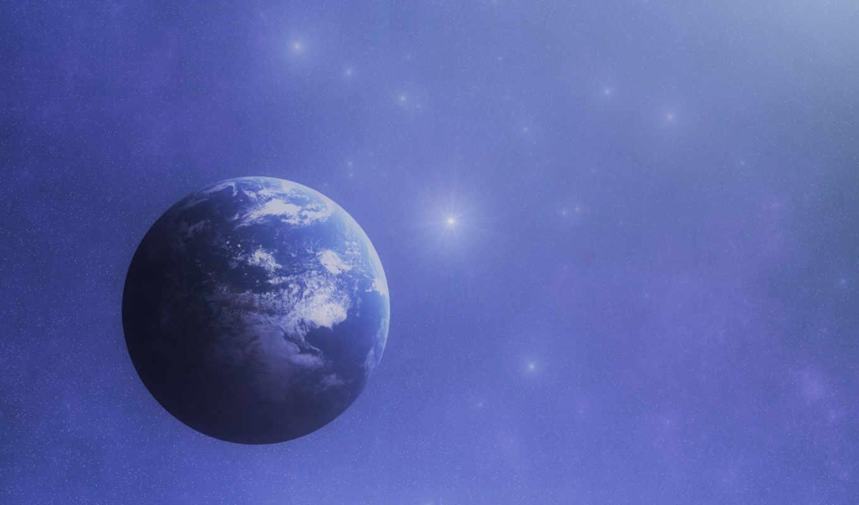 земля, космос, звезды,