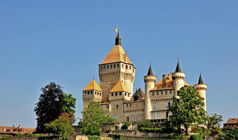 switzerland, castles, cities, vufflens, nature, горы, grimselpass, mountains,