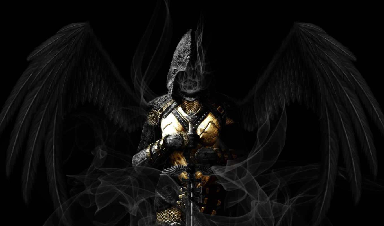 angel, крылья, черные, капюшон, skyrim, scrolls, elder,