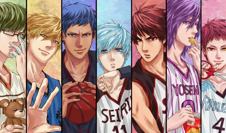чудес, куроко, баскетбол, поколение, anime, корзина, basuke, поколения,