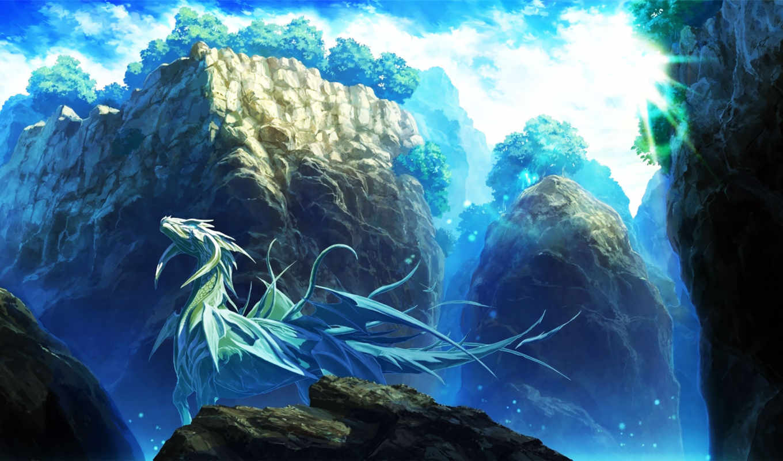 dragon, ice,