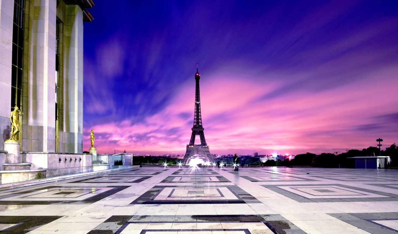 башня, эйфелева, париж, без, франция, регистрации,