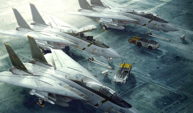 самолёт, истребитель, авианосец, реактивный, tomcat, вмф,