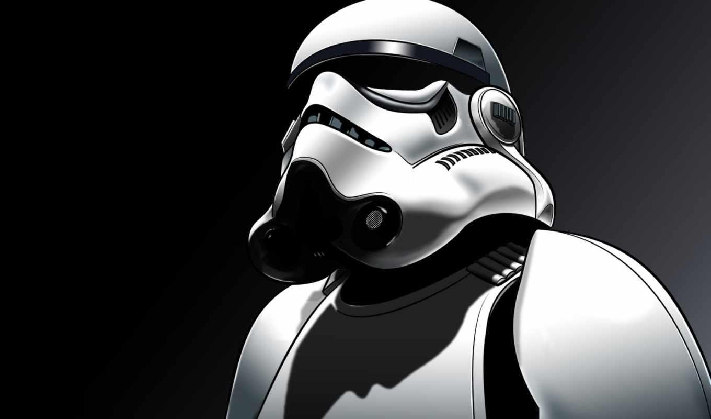 обои, штурмовик, войны, шлем, wars, star, звездные