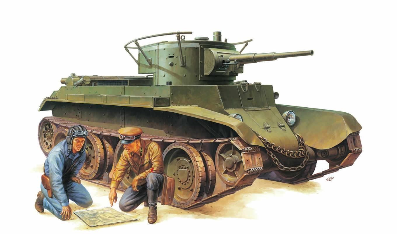 bt, tamiya, model, tank, kit, russian, танки, tanks, military, scale, солдаты,