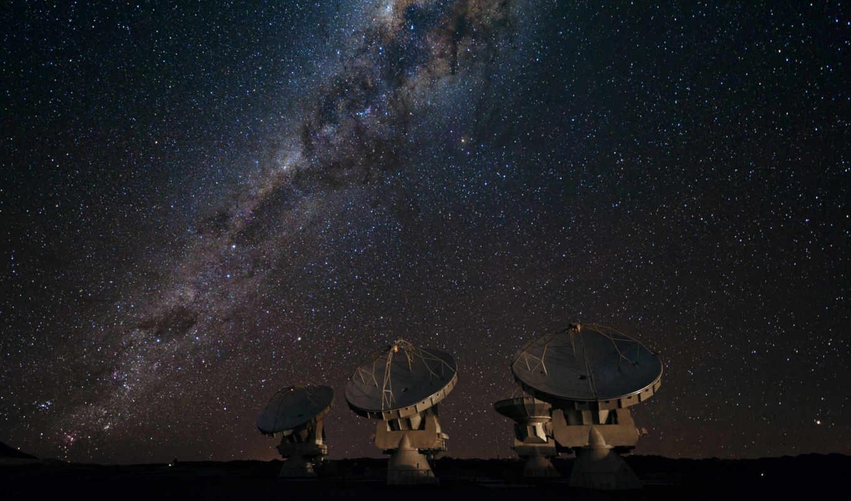 галактика, звезды, путь, млечный, радиотелескоп, картинка,