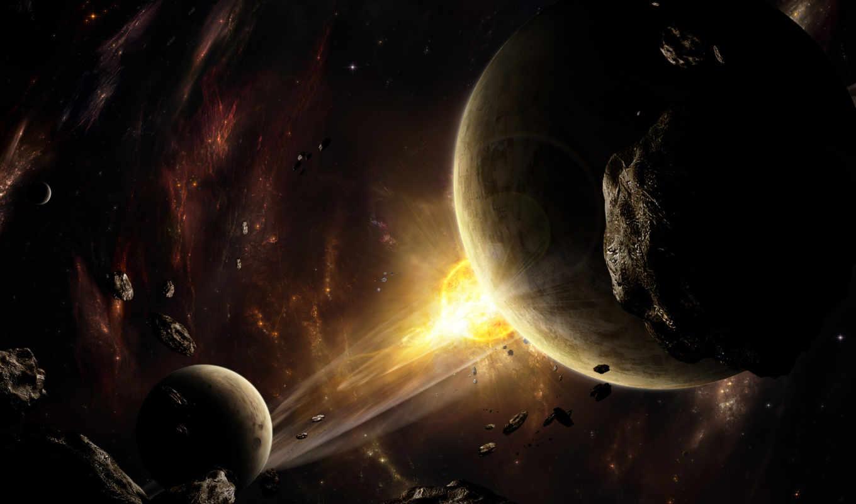 космос, астероиды, планеты, картинка, смотрите, взрыв, вспышка, космическое, картинку,