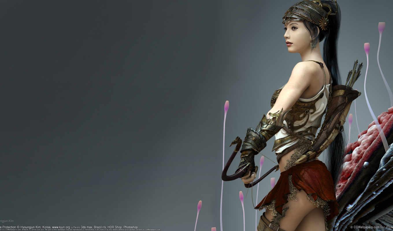 fantasy, стрелы, оружие, devushki, марта, девушка,