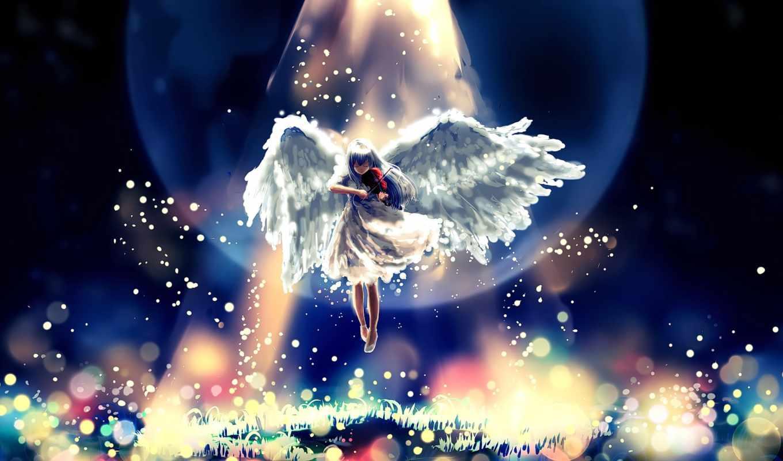 angel, anime, статуэтка, девушка, крылья, автор, gold, ритмы,