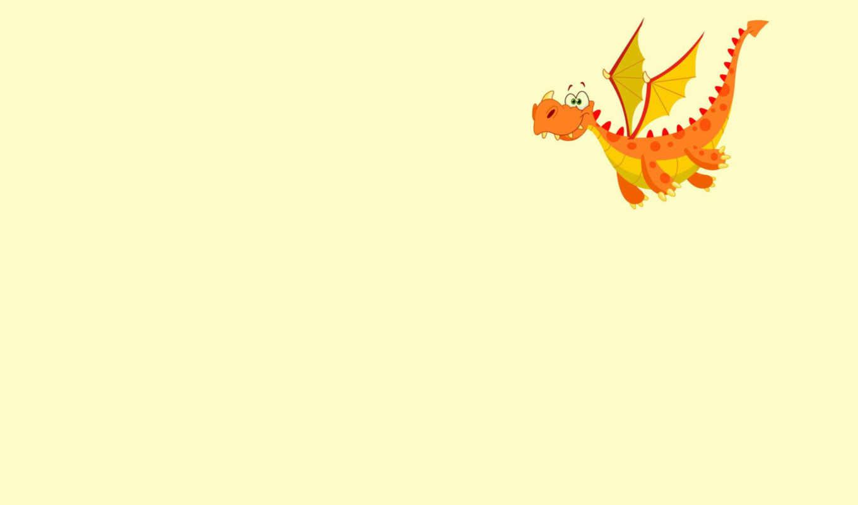 дракон, оранжевый, dragon, летит, крылья, картинка,