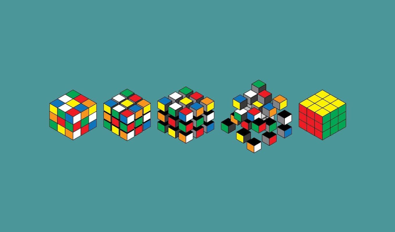 кубик, рубика, арт, графика, сборки, варианты, голубой, минимализм, собрать, facebook, ibek, twitter,