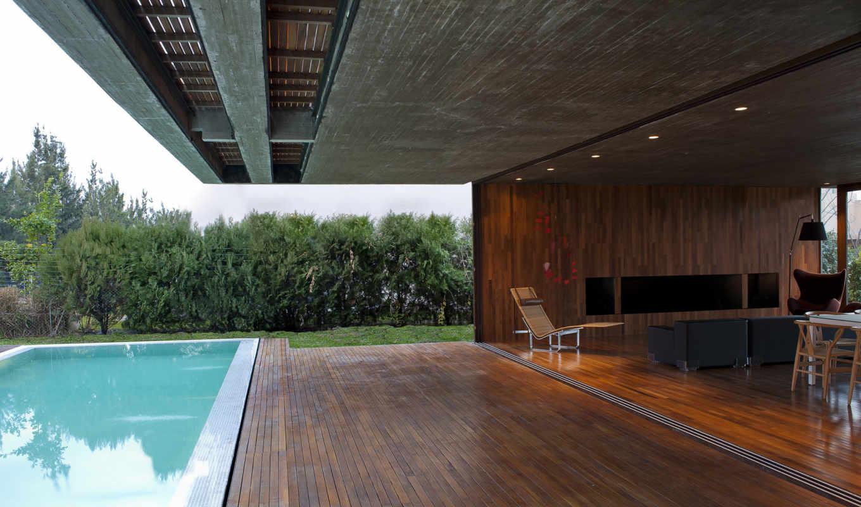 , interior, терраса, гостиная, бассейн