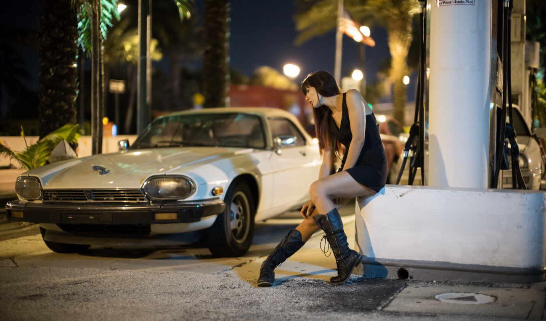 машина, улица, девушка, девушки,