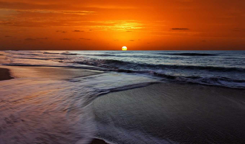 пляж, закат, desktop, hawaii, images,