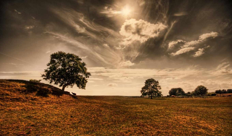 black, природа, небо, hdr, день, облако,