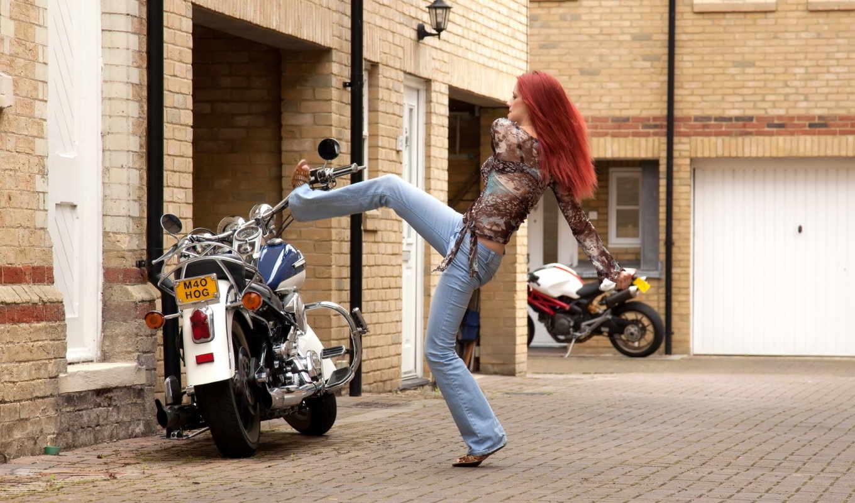 мотоцыкле, kobieta, harley, davidson, kobiety, мотоцыкл, chopper, pulpit, motor, июл,