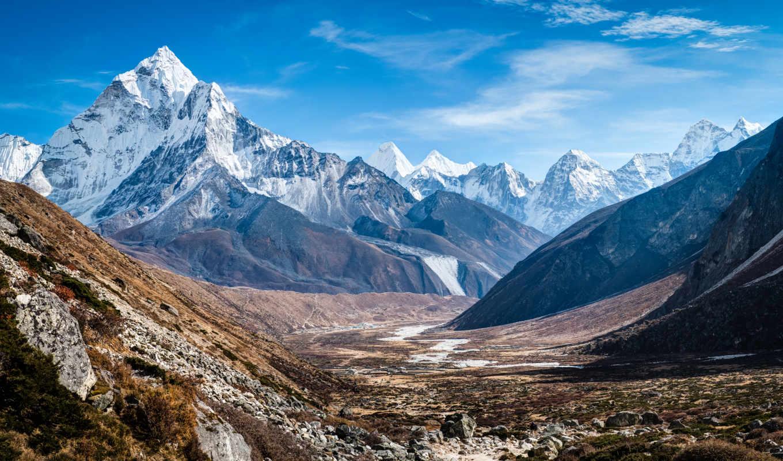горы, заказать, гималаях, природа, happen, мощное, wild, может, пейзажи -, гр, непала,
