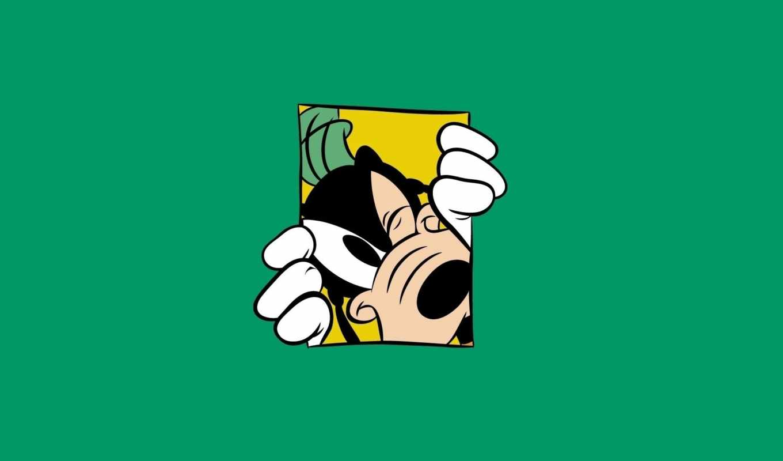 disney, goofy, минимализм, walt, гуфи, goof, green, fondos,