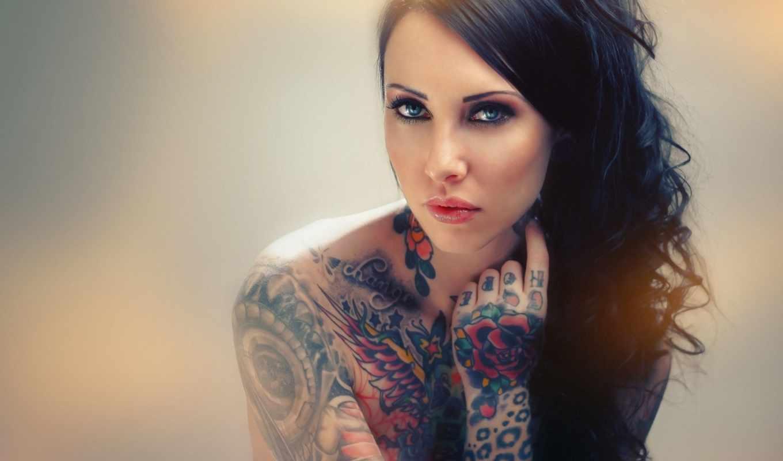 тату, devushki, девушек, татуированные, красивая,