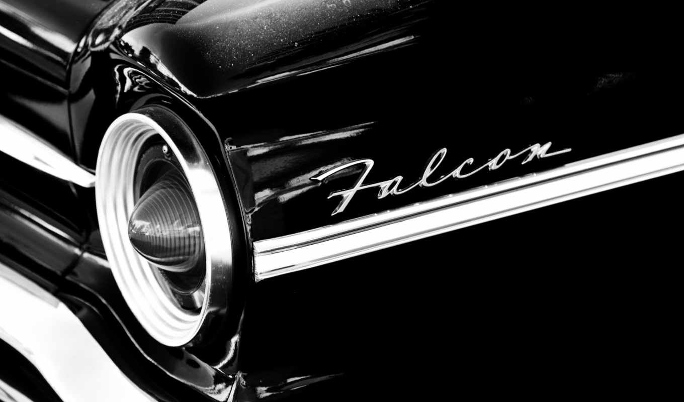 ford, falcon, black, cars, car,