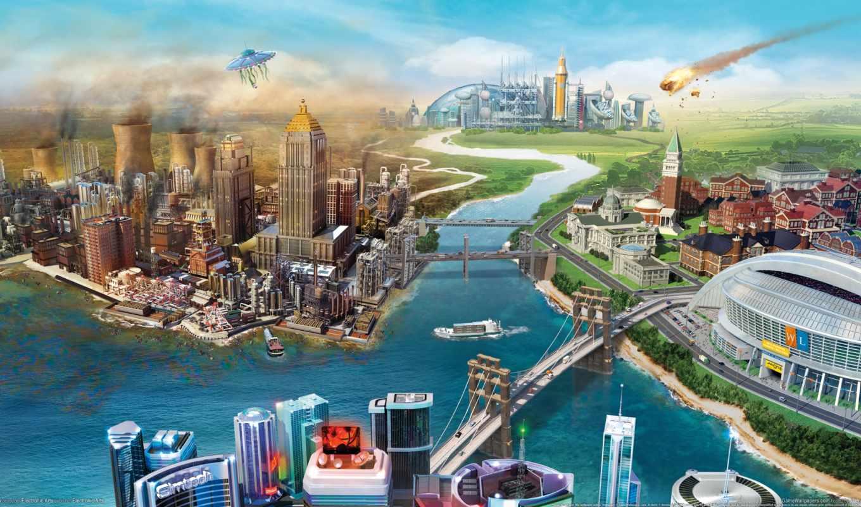 simcity, города, мар, будущего,