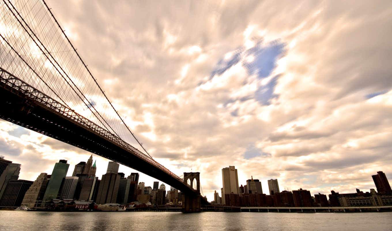 нью, york, мост, new, бруклин,