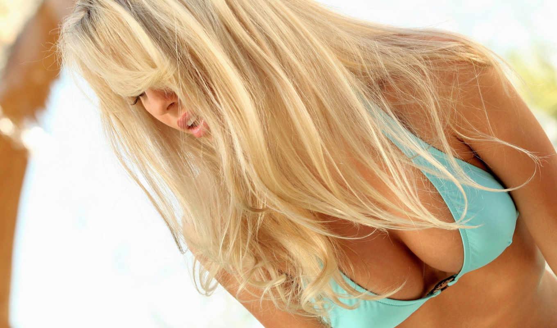 роза, bailey, волосы, грудь, бикини, белье, нижнее, blonde,