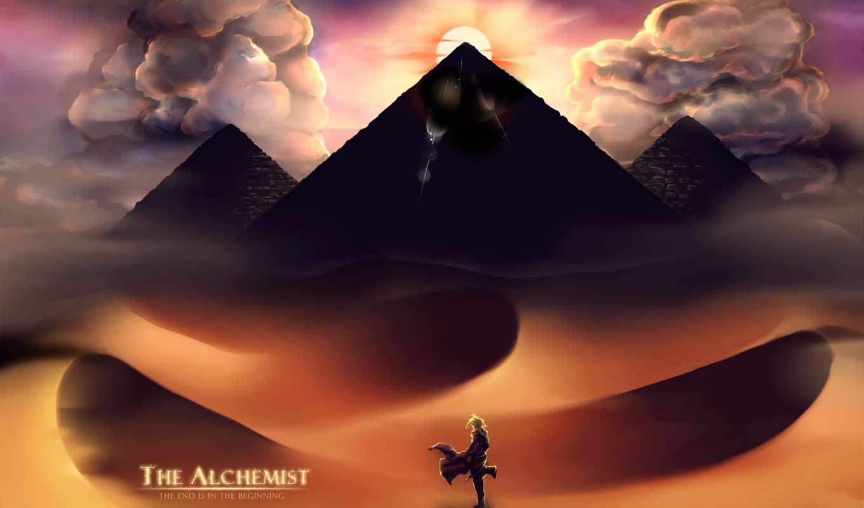 fullmetal, alchemist, anime, elric, edward, пейзаж, clouds, desert,