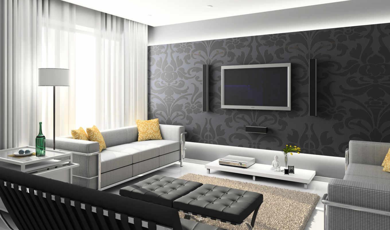 интерьер, гостиной, гостинной, интерьера, дизайн, интерьере,