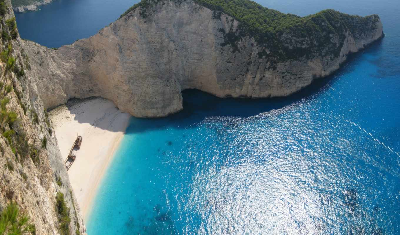 пляж, bay, full, desktop, amazing, navagio,