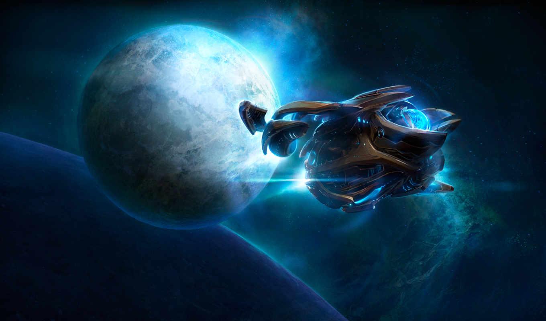 protoss, ecran, fonds, video, jeux, starcraft, die, vaisseau, изображение, vues, der,