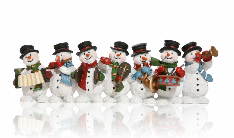 снеговики, new, год, дек, christmas,