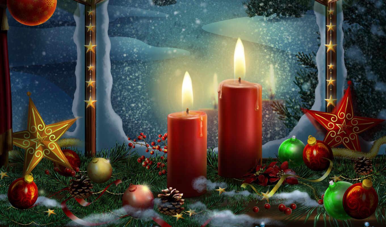 new, свечи, год, christmas, праздники, взгляд,